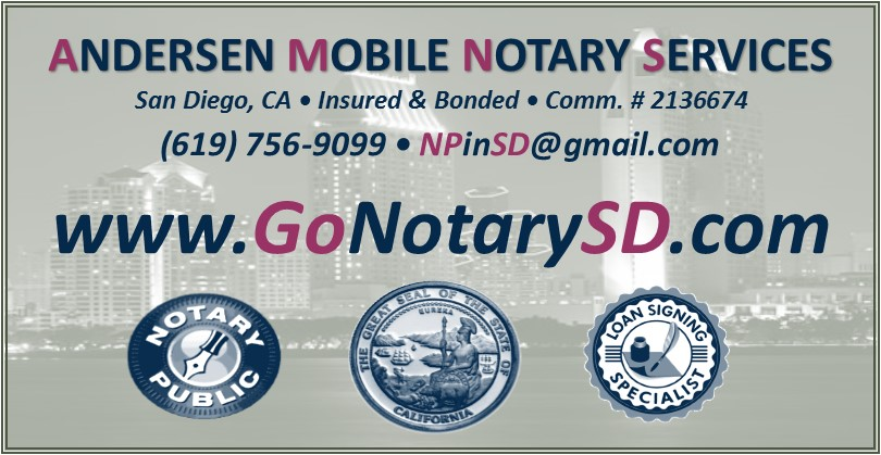 24/7 Mobile Notary San Diego